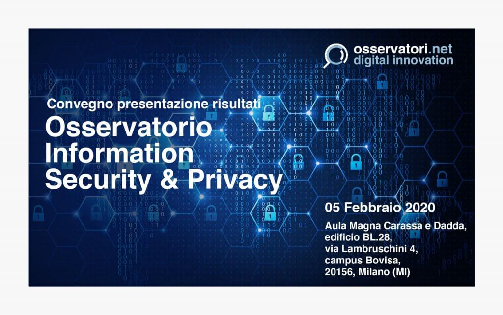 CryptoNet Labs at Osservatorio Information Security & Privacy